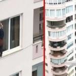 17 katlı binada korkutan görüntü