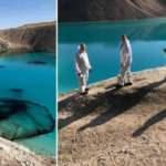 İlginç korona önlemi: Gölü siyaha boyadılar!