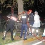 Otomobil refüjdeki ağaca çarptı: 1 ölü