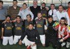 Belçika'lı vekiller Suriyelilerle maç yaptı