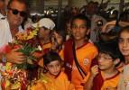 GS, Erzurum'da çiçeklerle karşılandı