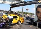 Taksi metrobüs bariyerlerine çarptı: 1 ölü