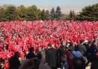 Türk bayraklarıyla Anıtkabir'e akın ettiler