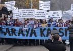 Trabzonsporlu taraftarlardan Paris'te eylem