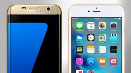 Galaxy S7 Edge'e fark attı