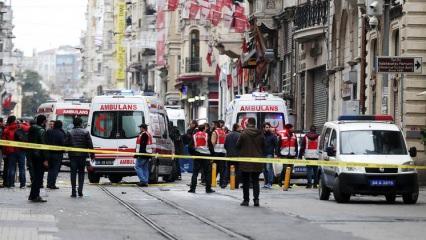 Taksim'deki patlamadan ilk görüntüler