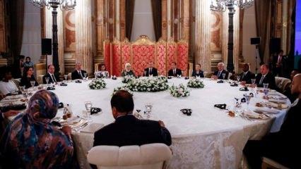 Erdoğan'ın verdiği yemekte anlamlı oturma düzeni