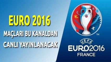 EURO 2016 maçları hangi kanalda yayınlanacak?