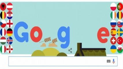Google'dan Euro 2016'ya özel Doodle