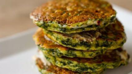 Peynirli, ıspanaklı pancake