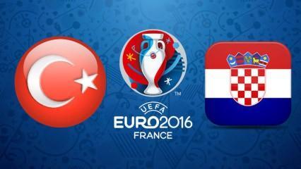 Türkiye Hırvatistan maçı saat kaçta gösterilecek? İlk 11'de kimler var?