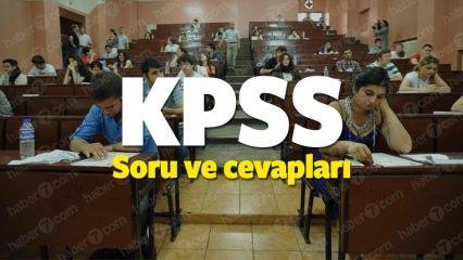 KPSS lisans sınavı soru kitapçığı ve cevapları yayınlandı! ÖSYM giriş sayfası...