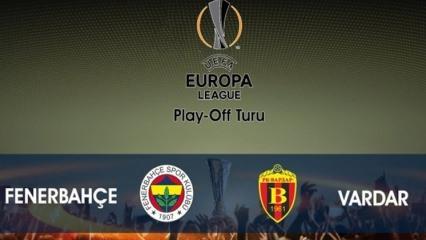 Fenerbahçe 1 - 2 Vardar geniş maçı özeti ve golleri