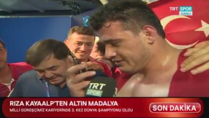 Rıza Kayaalp'e canlı yayında Erdoğan sürprizi