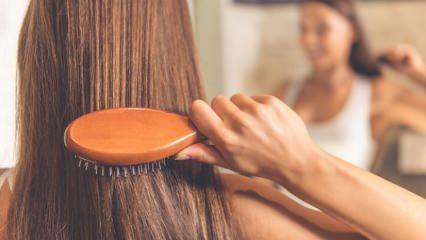 Elektriklenen saçlara evde doğal bakım önerileri