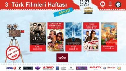 Kazakistan'da Türk filmleri haftası başlıyor