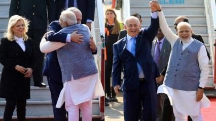 Netanyahu'yu böyle karşıladı!