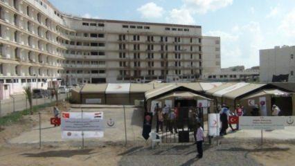 Yemen'e Sahra Hastanesi Kuruldu