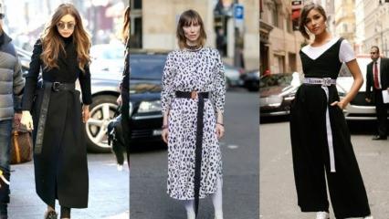 """Aksesuar modası: """"Uzun kemerler"""""""