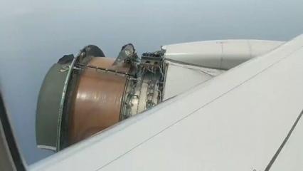 Havada dehşet! Motor parçalanmaya başlayınca…