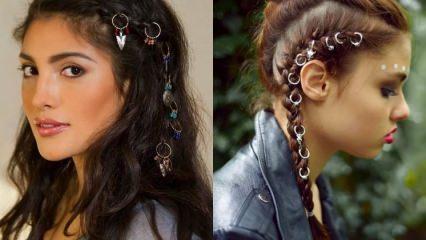 """Modada yeni çılgınlık """"Saç küpeleri"""""""