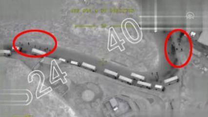 TSK yeni görüntü yayınladı! Sivil varken vurmadık