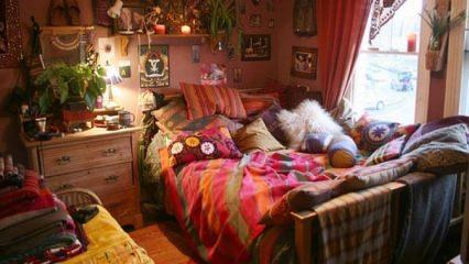 """Yatak odalarında """"Bohem dekorasyon"""""""