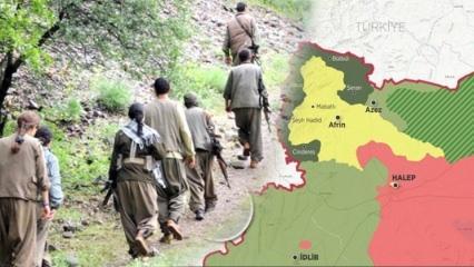 PKK'lı teröristlerden Afrin'e büyük sevkiyat!