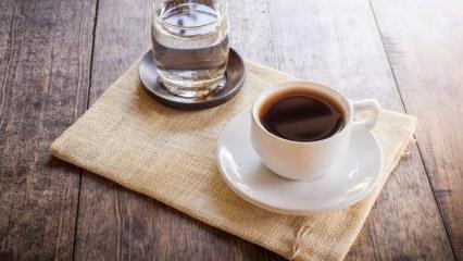 Kahveyi susuz tüketmenin zararları