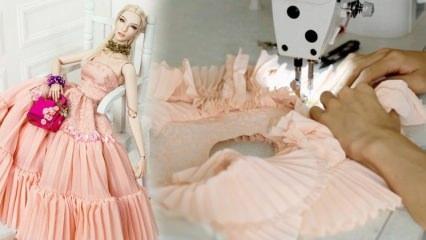 Barbie oyuncak bebeklere kıyafet nasıl dikilir? Kolay ve pratik bebek elbisesi dikimi