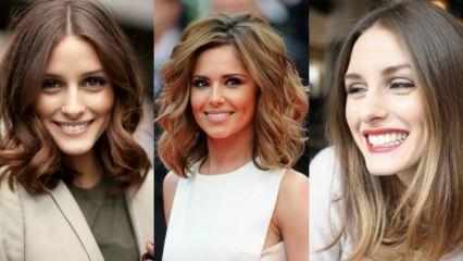 En trend orta boy saç modelleri