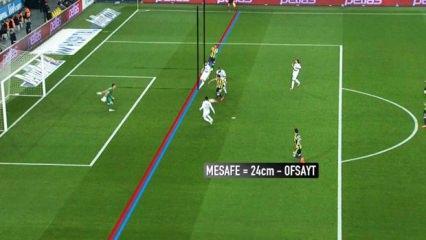 F.Bahçe'nin 2. golünde ofsayt tartışması! 24 cm...