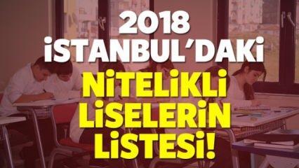 2018 İstanbul nitelikli okulların listesi! Sınavla öğrenci alacak liseler...