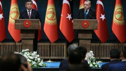 Erdoğan'dan Kırgız liderin yanında FETÖ mesajı