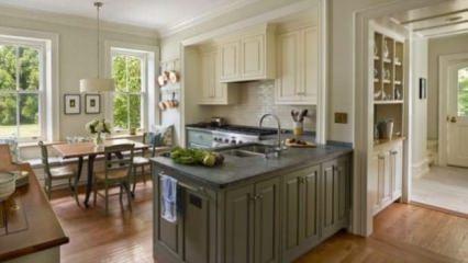 İki renkli mutfak dolabı trendi