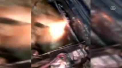 Otomobilin motorunda yurda sokmaya çalıştılar