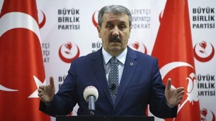 Mustafa Destici'nin aday olduğu yer belli oldu