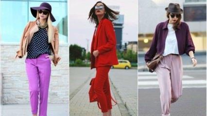 Renkli pantolonlar nasıl kombinlenir?