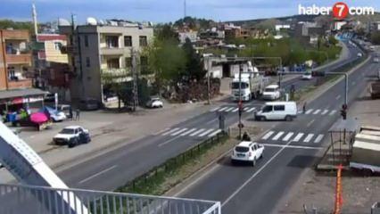 Diyarbakır'daki kazalar MOBESE kamerasında