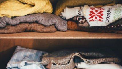 Kışlık elbiseler nasıl saklanır?