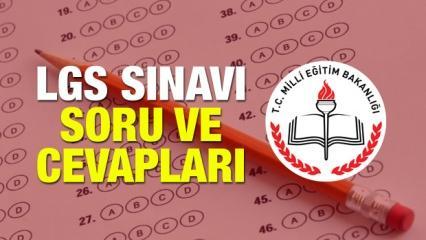 2018 Liseye Geçiş Sınavı (LGS) soru ve cevapları! MEB kitapçıkları...