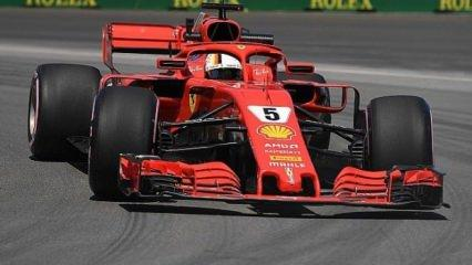 Kanada'da zafer Vettel'in