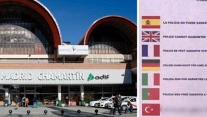 İspanya'da Türkçe rezaleti! Cahillik diz boyu