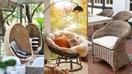Dekorasyonda rattan mobilya trendi