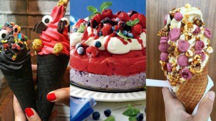 Pratik farklı dondurma tarifleri