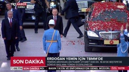 Cumhurbaşkanı Erdoğan TBMM'ye böyle geldi