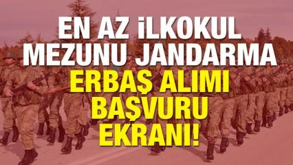 Jandarma sözleşmeli uzman erbaş alımı yapılıyor! Başvuru için son gün!