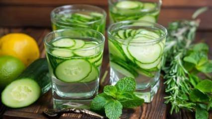 Kilo verdiren salatalık suyu tarifi