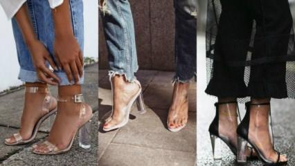 Şeffaf ayakkabı trendi