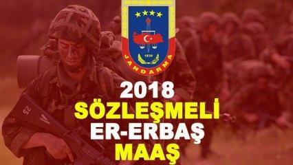 2018 Sözleşmeli Er ve Erbaş maaşları kaç TL?